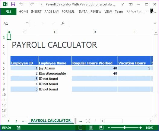 payroll template 527436