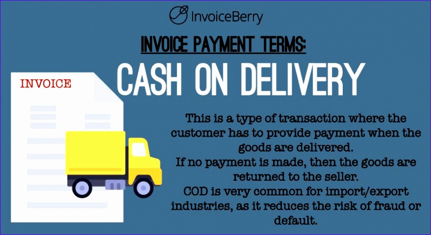 invoice payment terms cod 879480