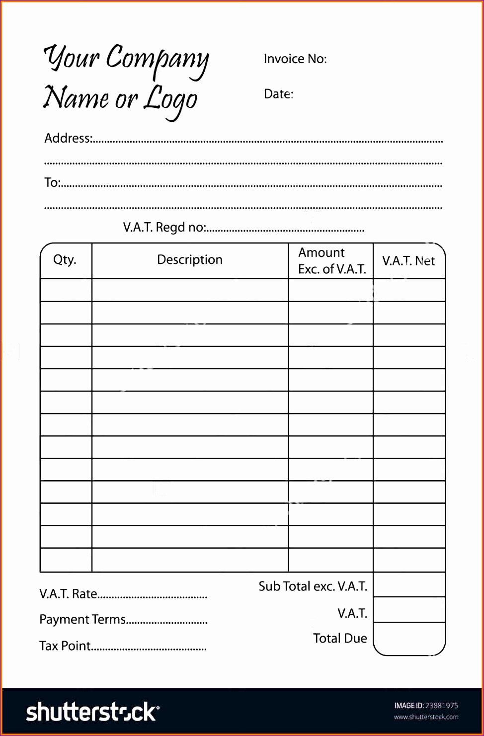 11 bill book format in ms word 9741481