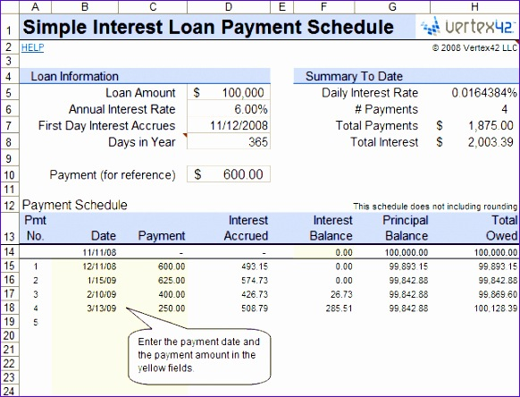 simple interest loan 582444