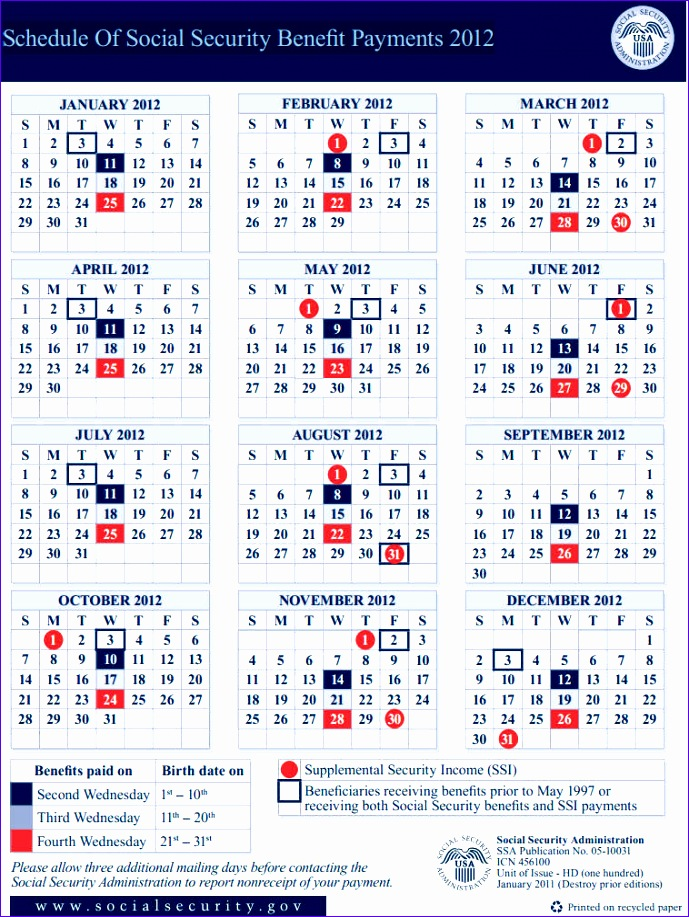 social security disability benefit payment calendar social 689917