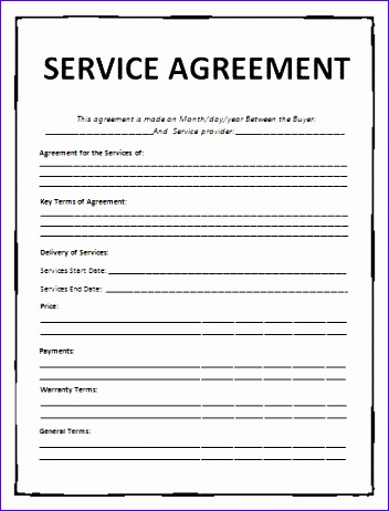 45 perfect agreement template examples