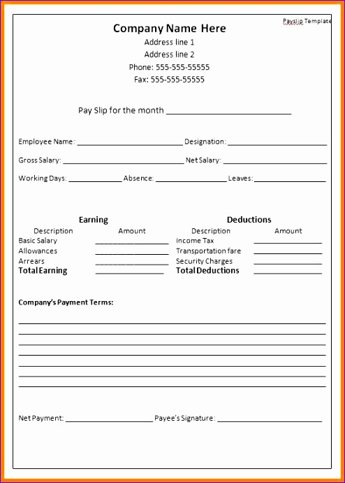 3 Employee Payslip Template Excel  Employee Payslip Template Excel