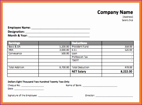 4 salary payment voucher template 480354