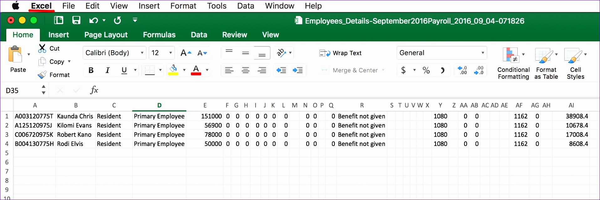 10 payslip template in excel exceltemplates exceltemplates hr ke 1916640 alramifo Image collections