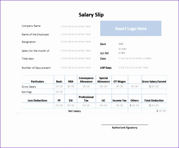 salary slip template41 excellent salary slip payslip template examples