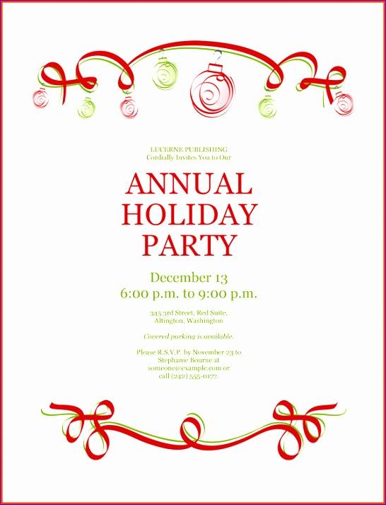 christmas invitation template free 546713
