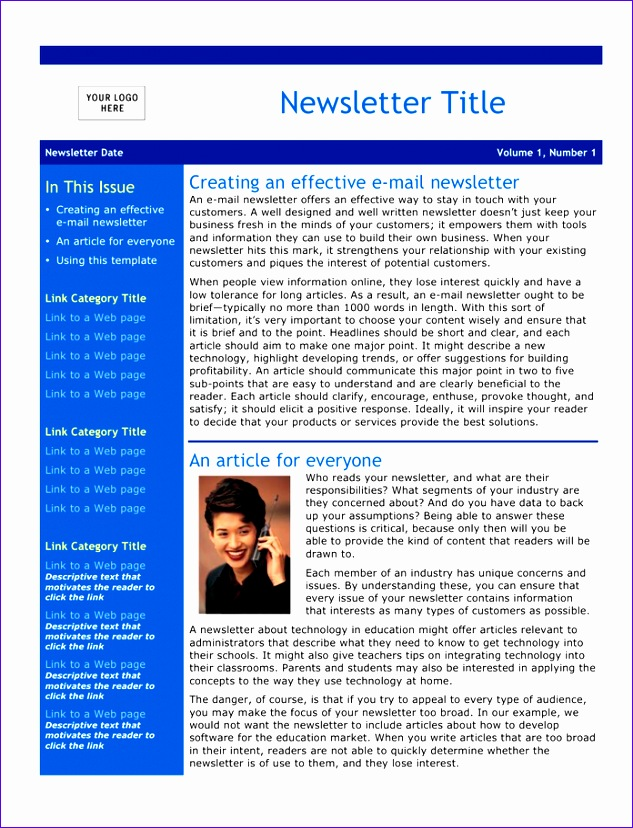 email newsletter template 633828