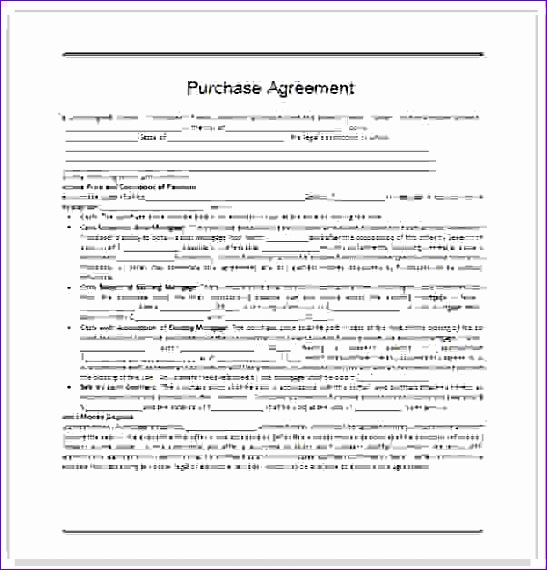 4 simple purchase agreement template 547570