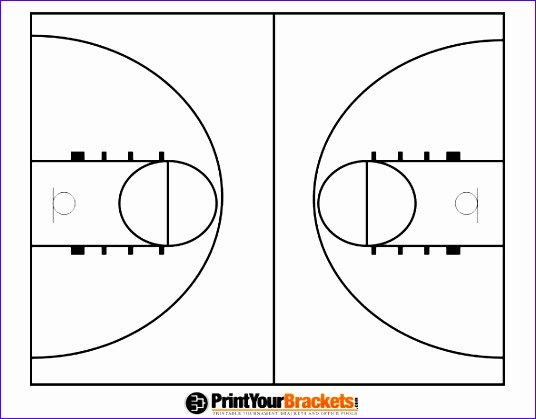 printable basketball court diagram 536419