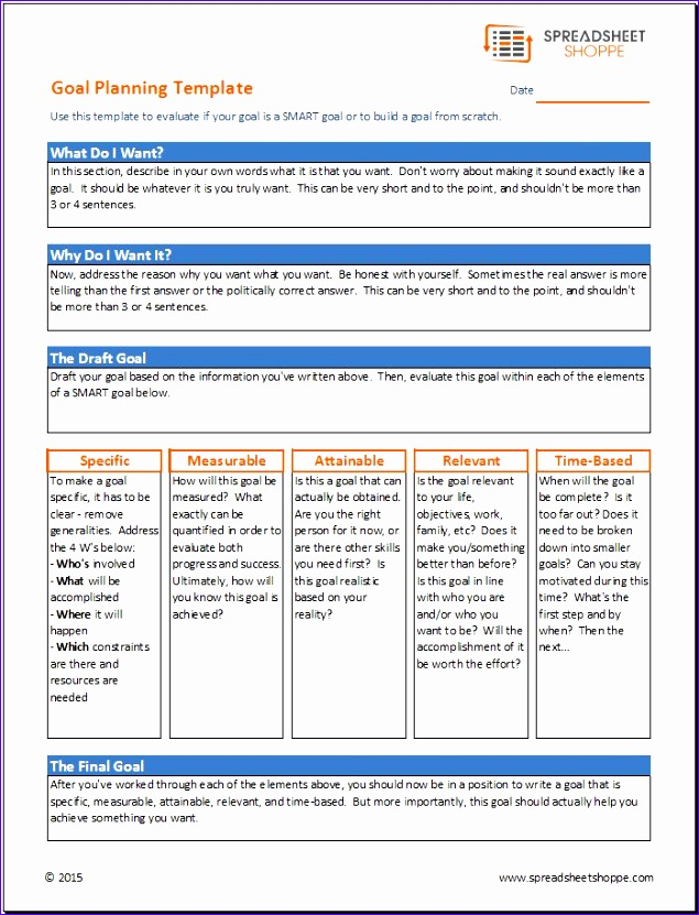 goal planning template 635831
