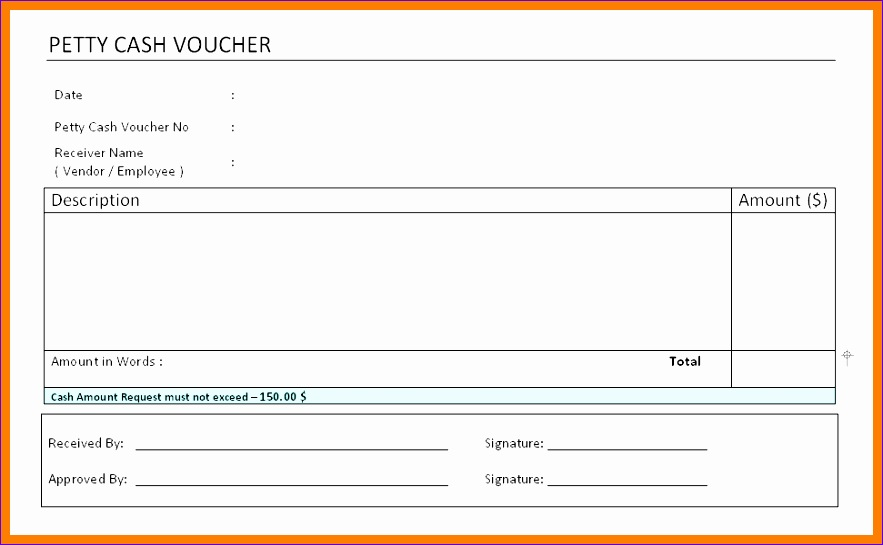 5 Cash Receipt Format In Excel 883545  Petty Cash Voucher Example