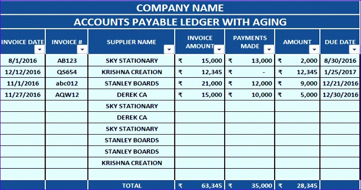 accounts payable template aging 728384