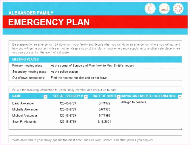 emergency family plan 669509