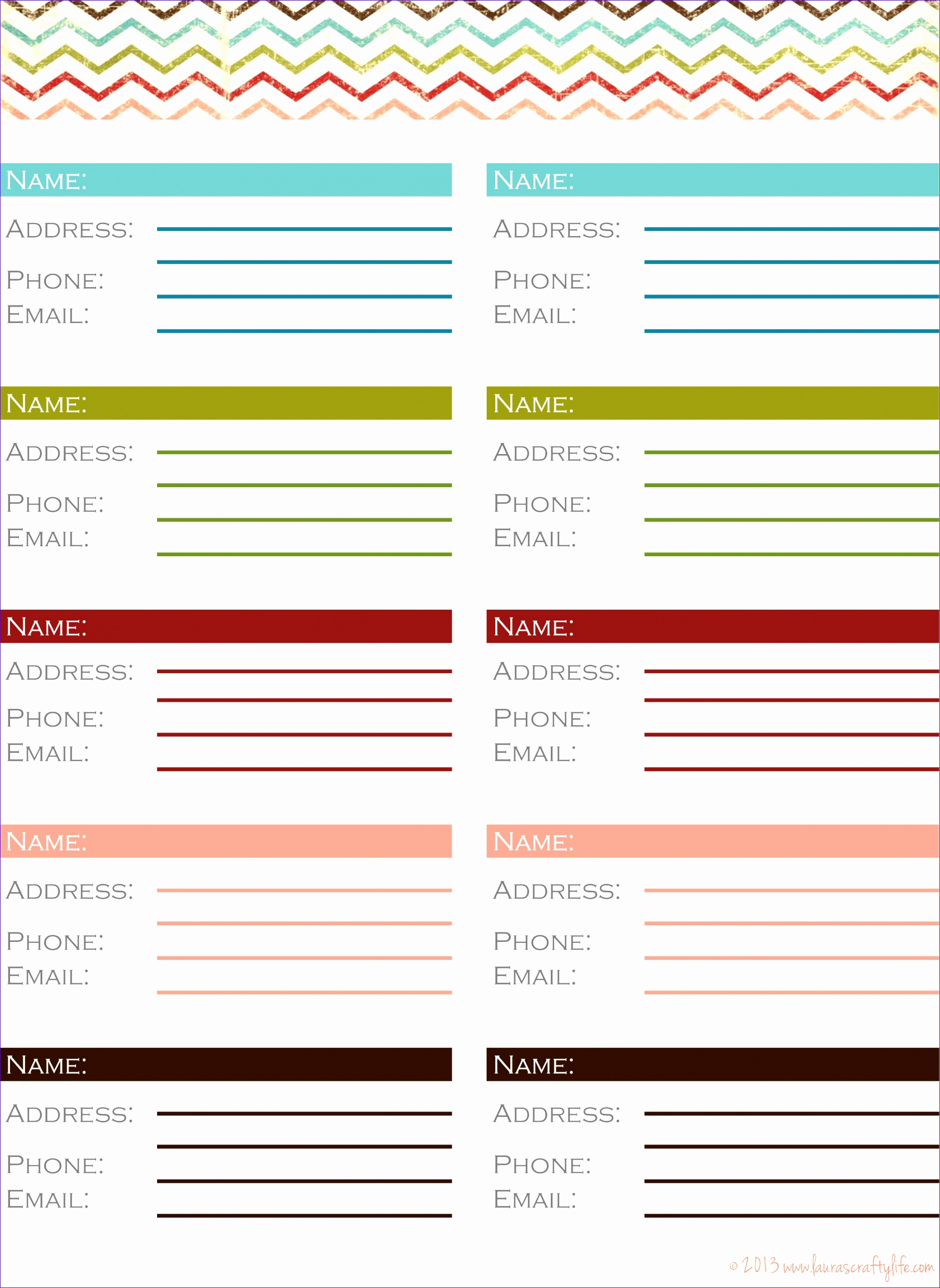 10 phone book excel template - exceltemplates