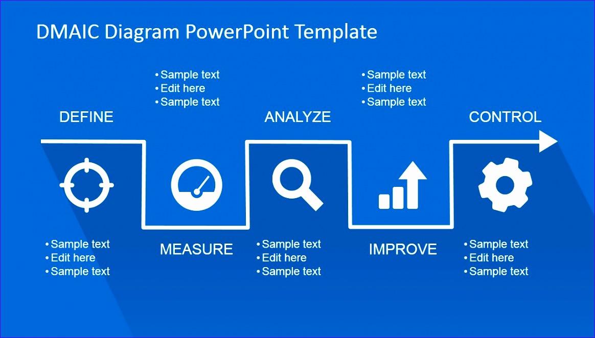 flat dmaic powerpoint template 1164662