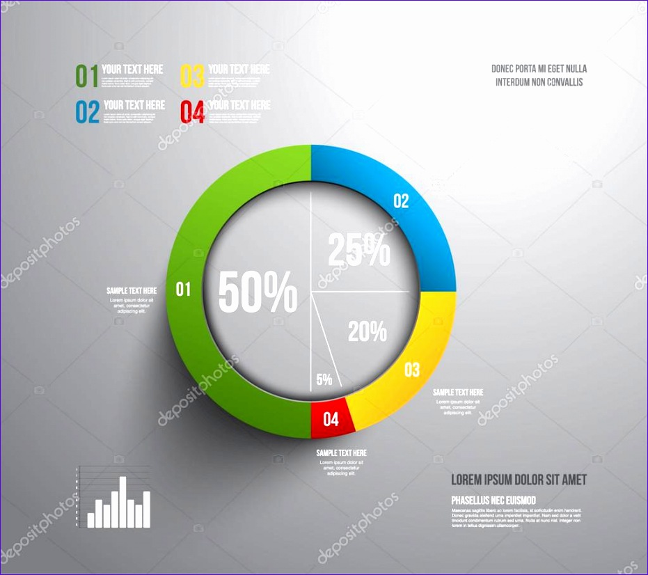 stock illustration modern pie chart graphic template 931826