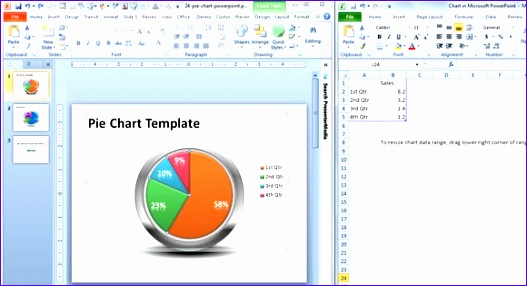 creative pie chart template for powerpoint 2010 527286