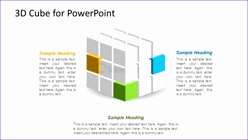 1178 3d cube shape powerpoint wide 2 2 791449