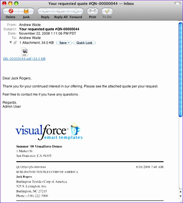 Visualforce EmailQuote2PDF 583646