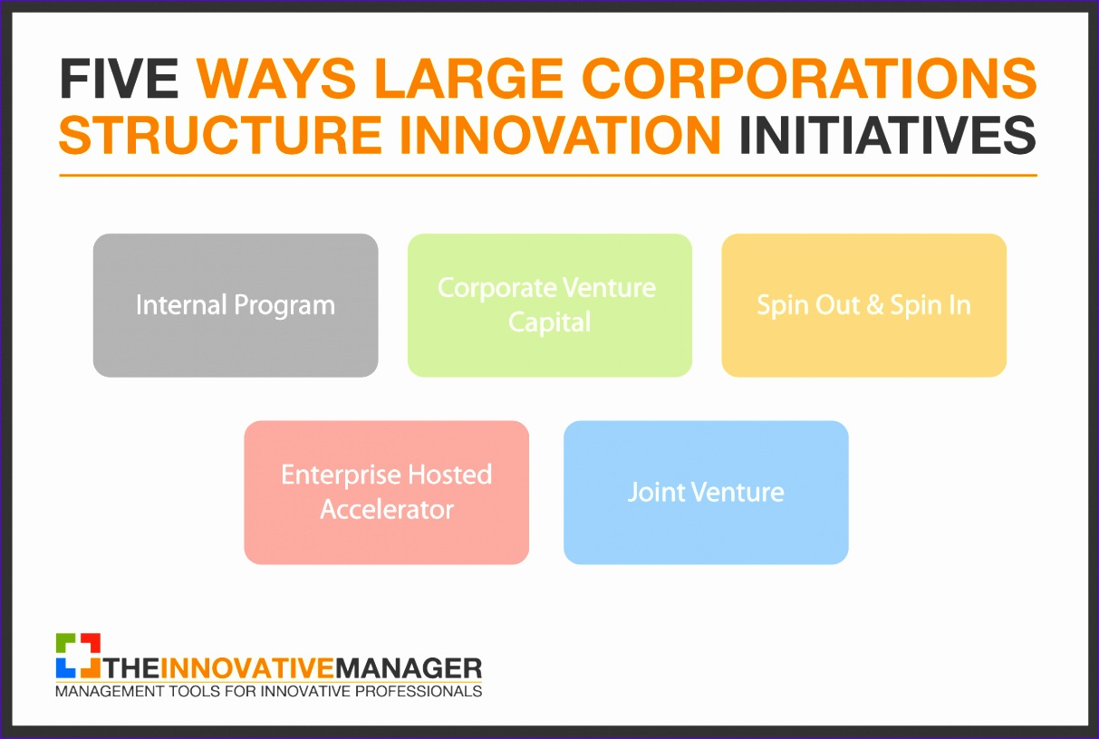 five ways large corporations structure innovation initiatives