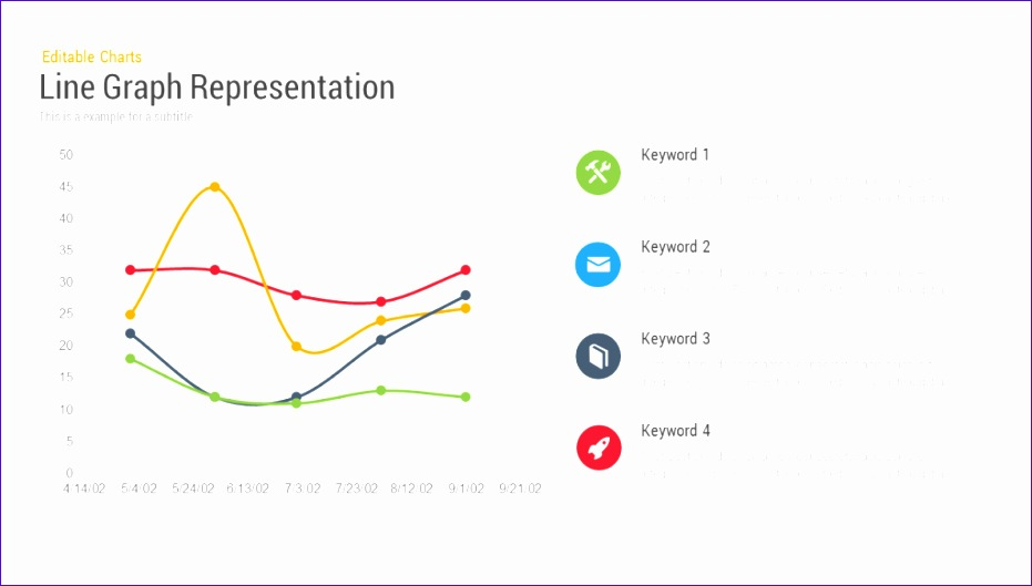 line chart representation powerpoint