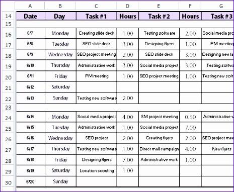 free bi weekly time sheet 465382