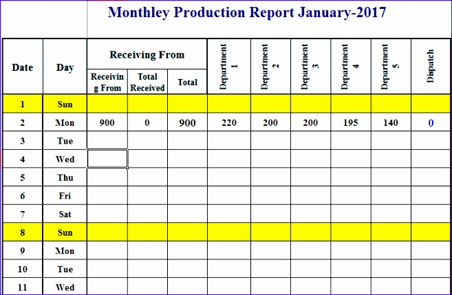 format of production schedule plan template in excel 657429
