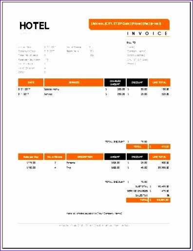 hotel invoices 396515