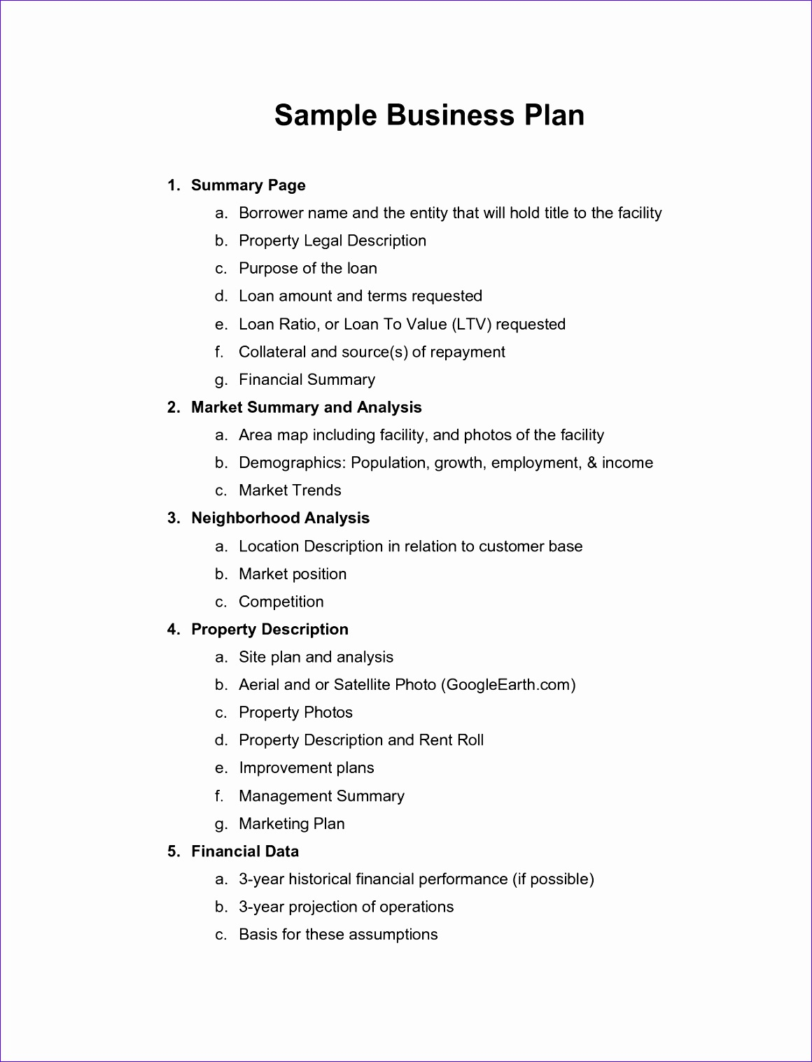 Business Plan Template Pdf 297  Profit And Loss Template Word