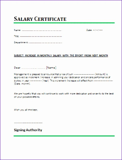 salary certificate template 422552