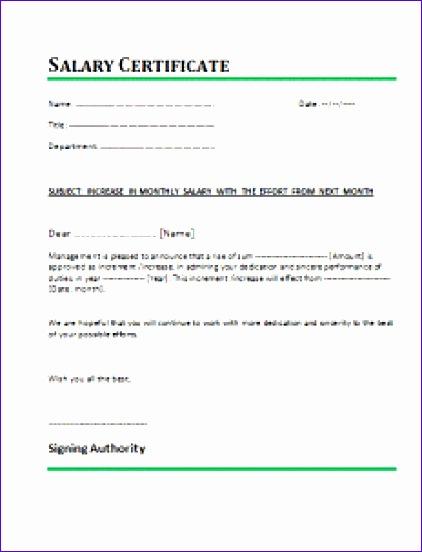 salary certificate template 422552