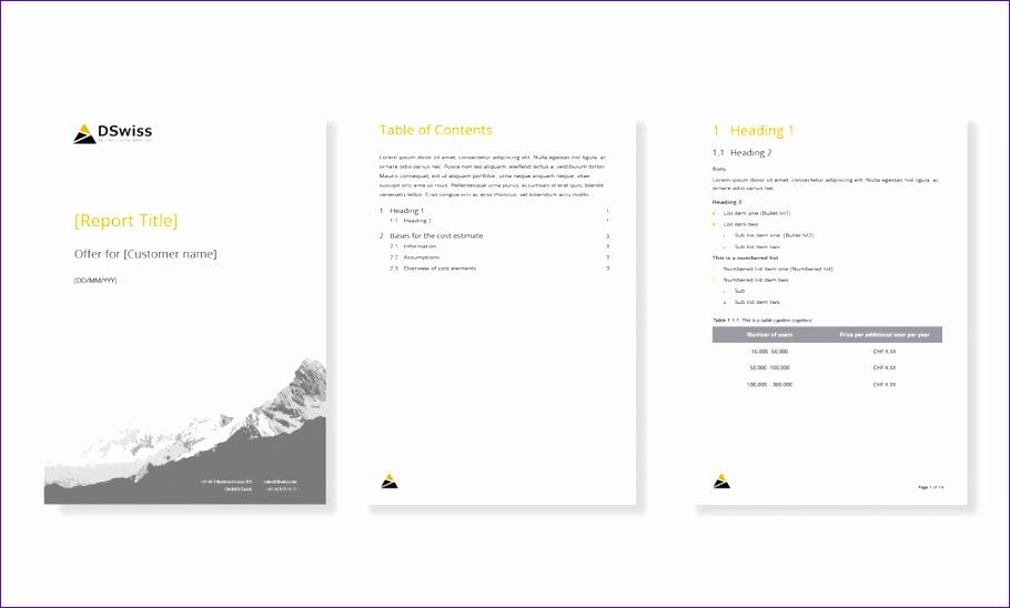 microsoft office template design