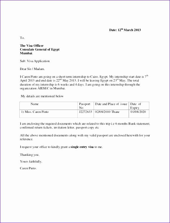 format of forwarding letter