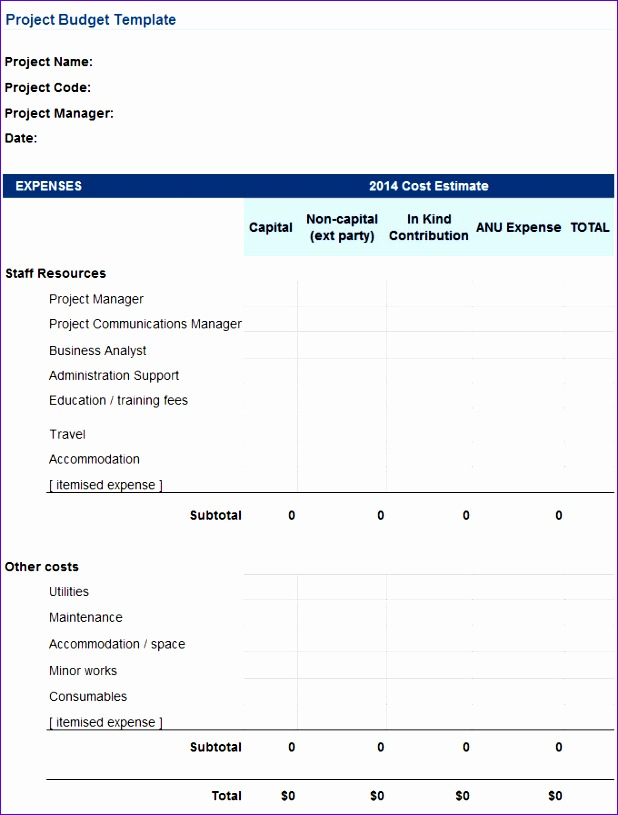 project bud template 618815