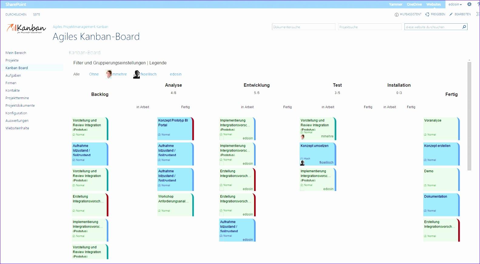 kanban board agiles projektmanagement sharepoint 1583871