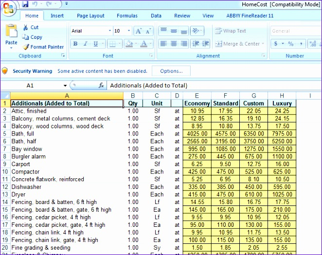Project Estimation Excel Template Ogkz Unique Free Cost Estimating