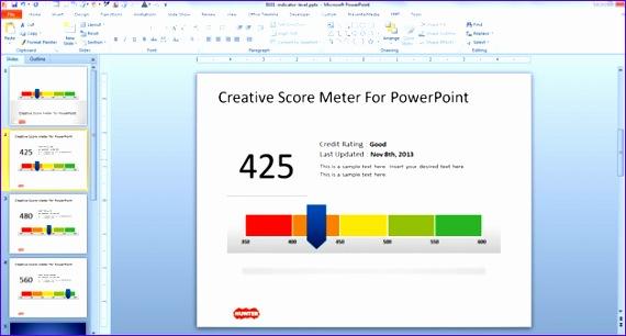 creative score meter template powerpoint 570306