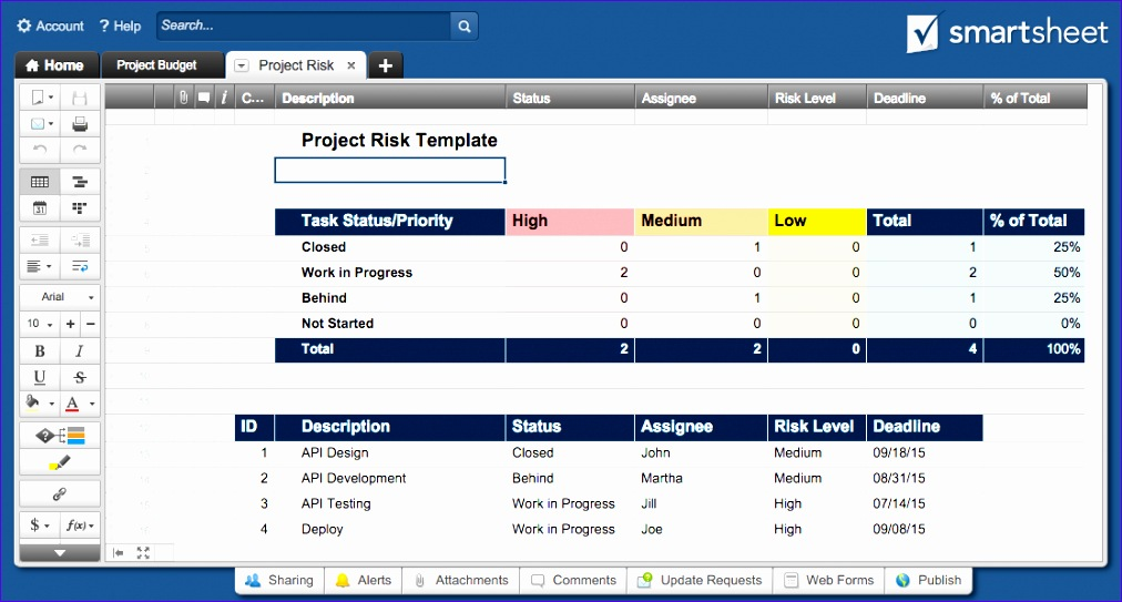 multiple project tracking template excel 1012543