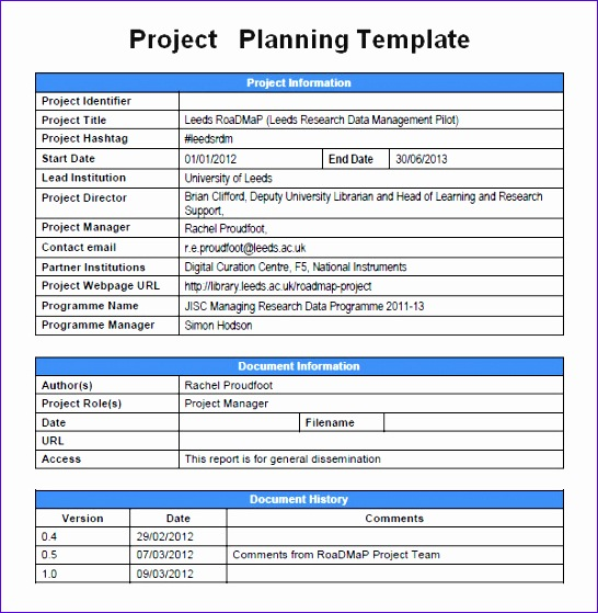 project planning template 546559