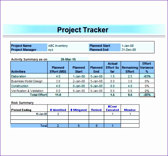 project management template 546506