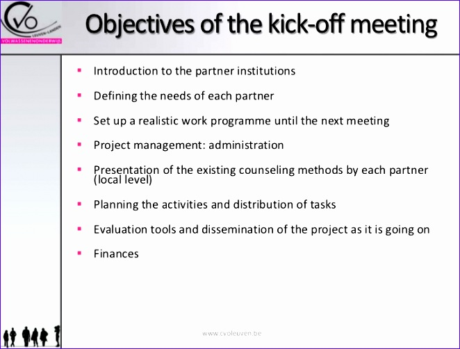 objectives of the kickoff meeting 662502