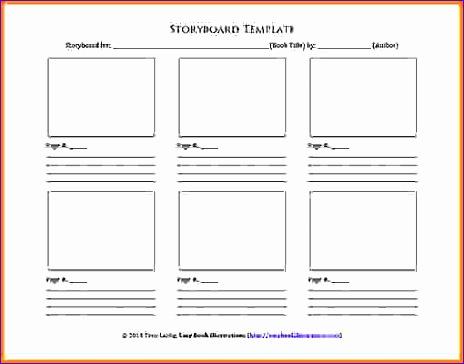 storyboard template word storyboard template 464364