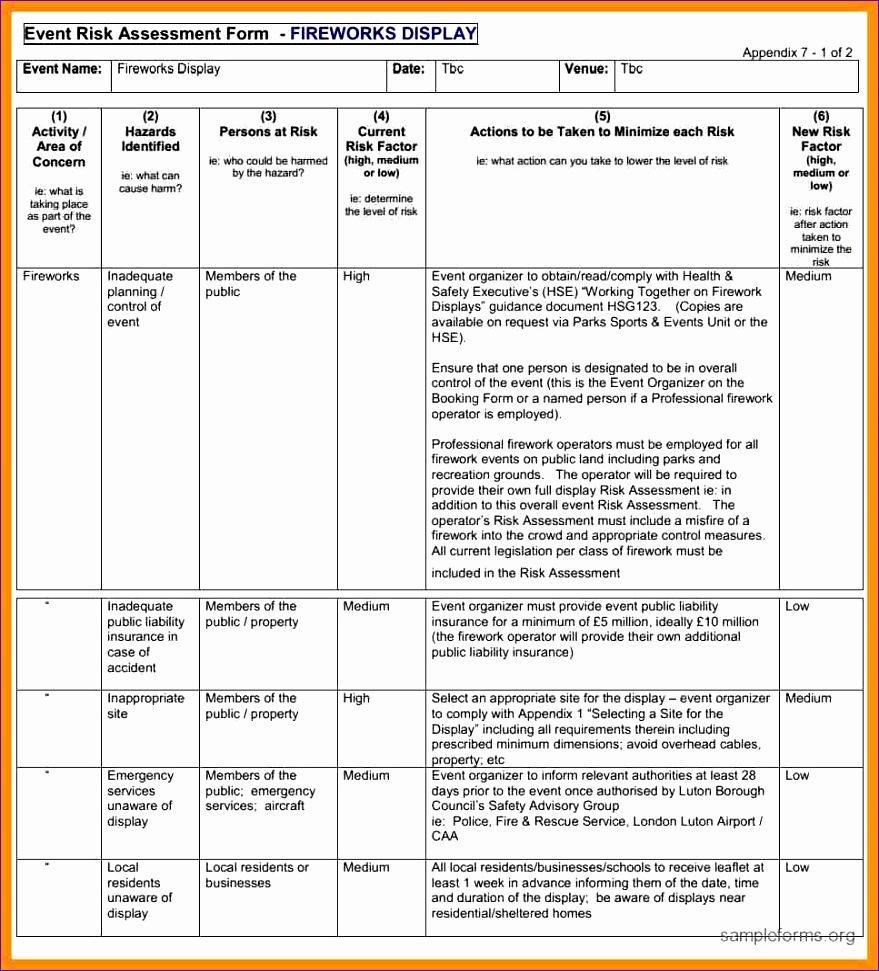 12 risk evaluation template 879971