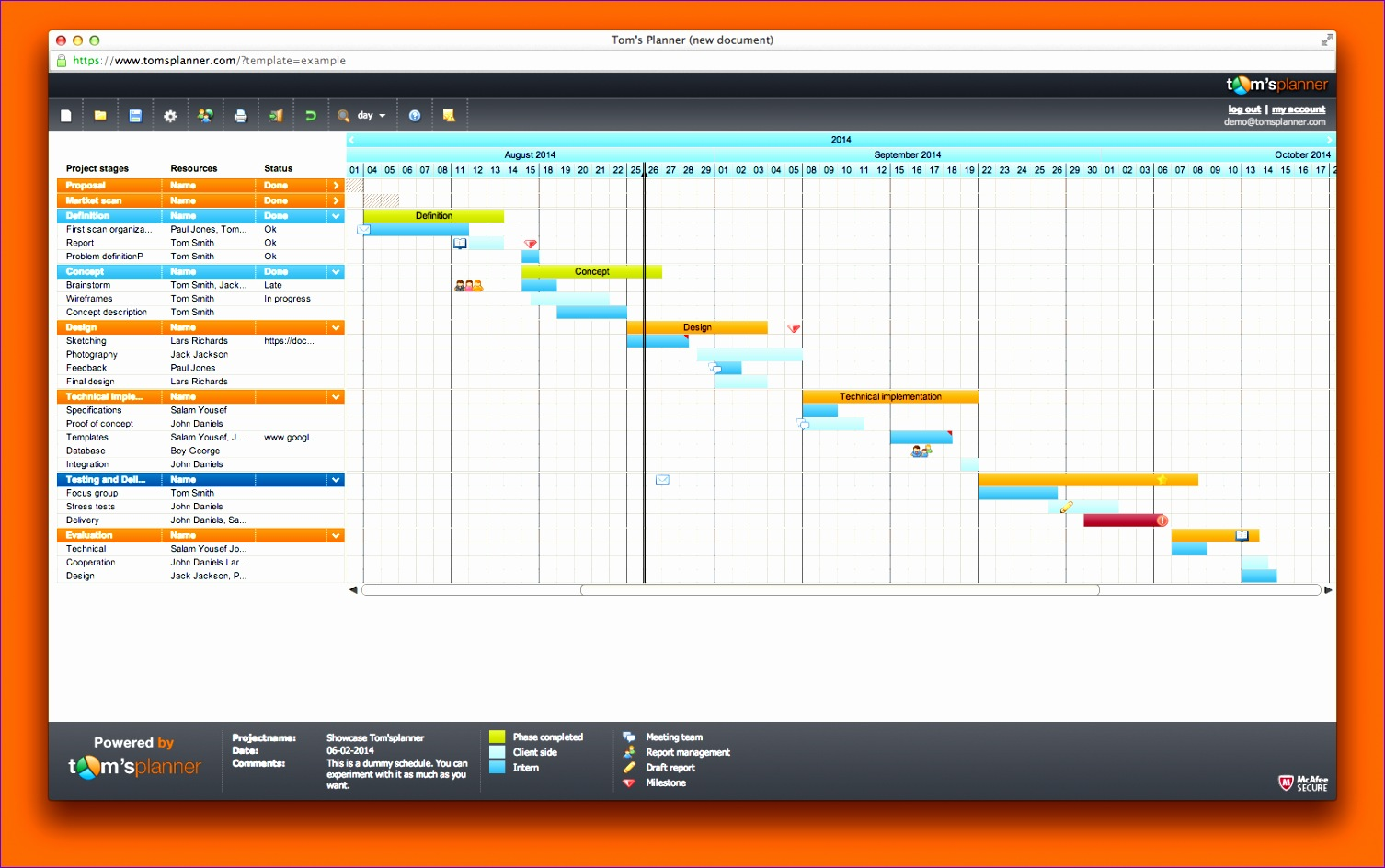 6 project management timeline excel template for Free excel gantt chart template