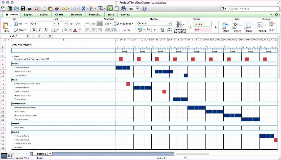 excel template project timeline 1404 1136647