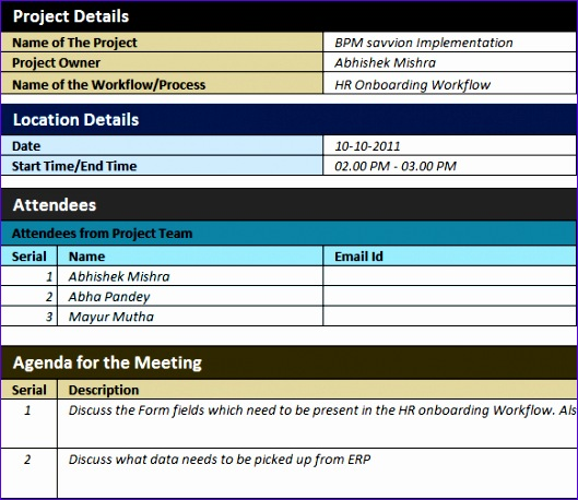 free template bpm minutes meeting sponsored constellation software 529458