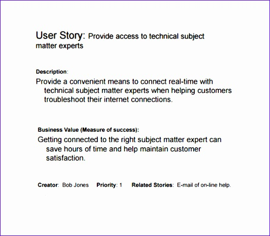 user story template 527460