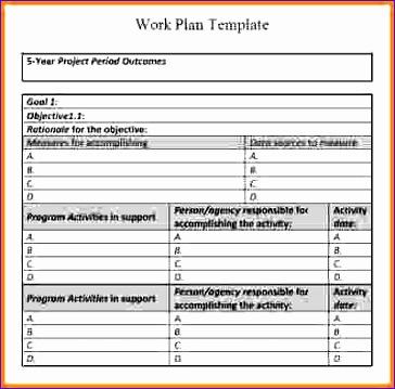 9 work plan template