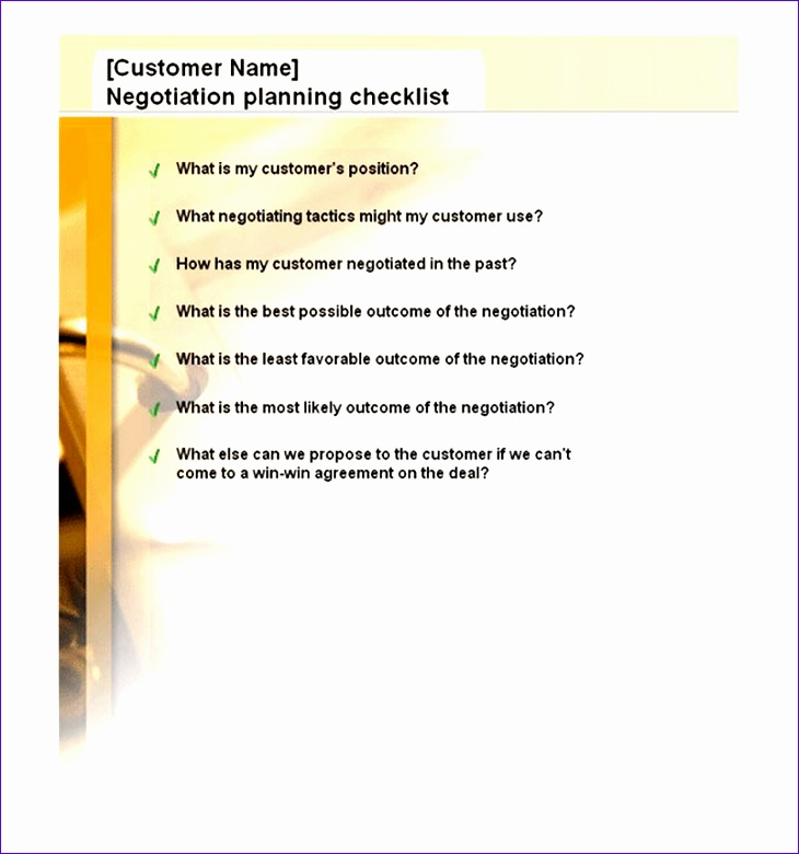 negotiation planning checklist 730780